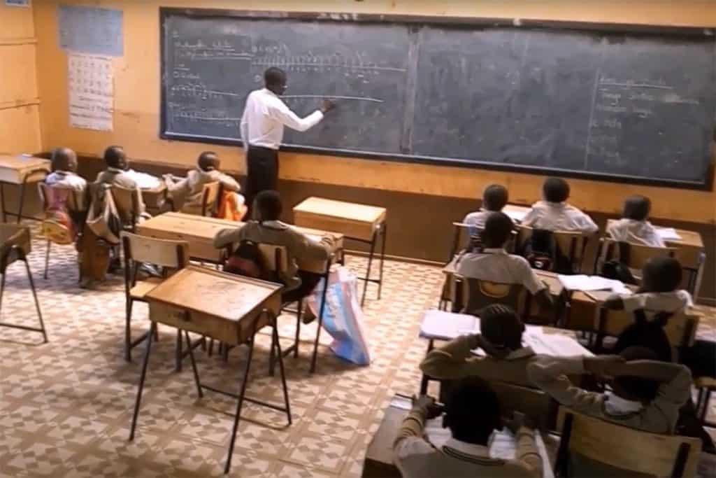 Our Lady of Grace School in Kenya Teacher in Classroom
