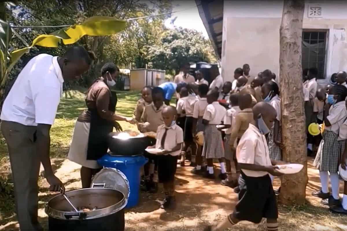 Our Lady of Grace School in Kenya Lunch Line