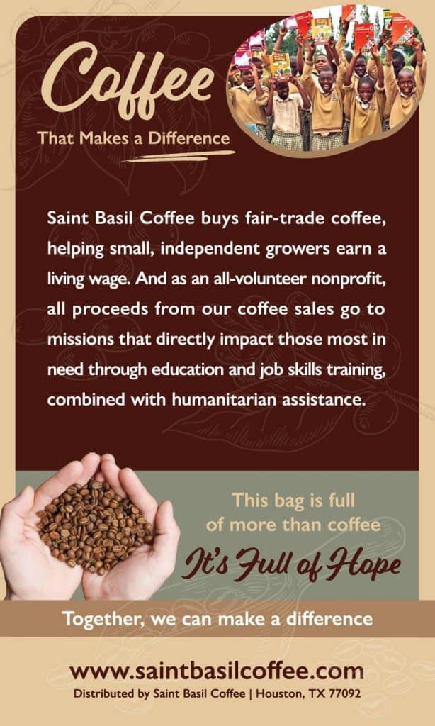Saint Basil Coffee Back Label